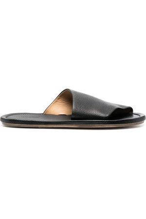 MARSÈLL Cornice grained-leather sandals