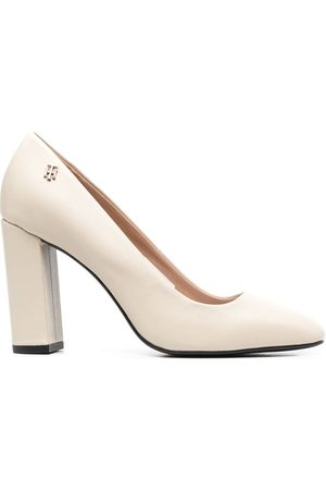 Tommy Hilfiger Square-toe leather pumps