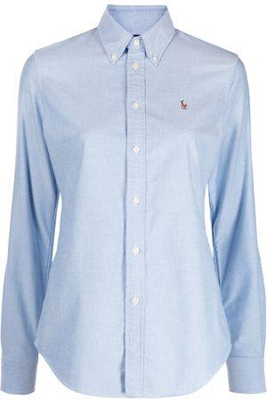 Polo Ralph Lauren Women Long Sleeve - Logo-embroidered Oxford shirt