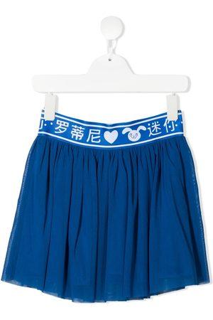 Mini Rodini Logo-print waist skirt