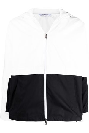 Neil Barrett Two-tone hooded jacket