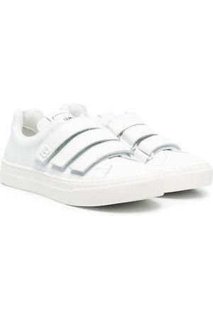 Balmain Girls Sneakers - Touch-strap low-top sneakers