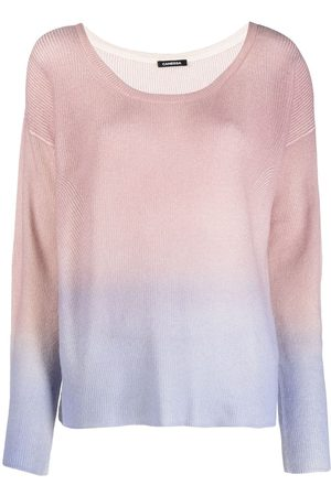 Canessa Fine-knit semi-sheer knitted top