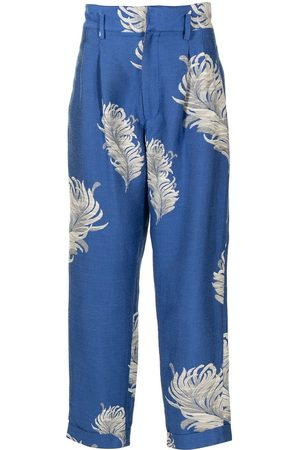 Bed J.W. Ford Men Formal Trousers - Floral tailored trousers