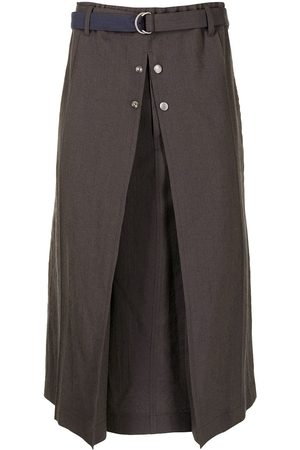 Bed J.W. Ford Herringbone wide-leg cropped trousers