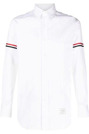 Thom Browne RWB stripe detail sleeve shirt