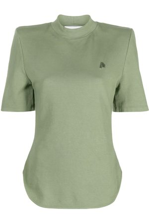 The Attico Shoulder padded cotton t-shirt