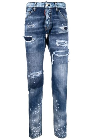 Dsquared2 Ripped detailing slim-fit jeans