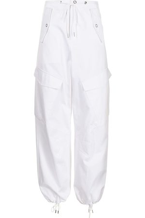 DION LEE Women Cargo Trousers - High-waisted cotton cargo trousers