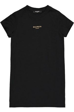 Balmain Logo cotton T-shirt dress