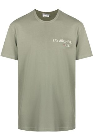 FAY Archive-print cotton T-shirt