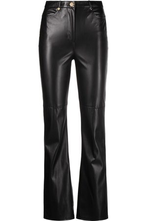 Patrizia Pepe Bootcut faux-leather trousers