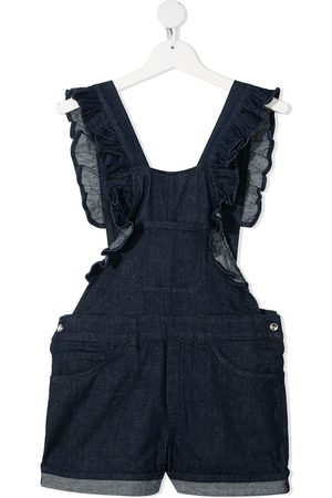 Dondup Girls Bodysuits & All-In-Ones - Ruffled denim dungaree-shorts