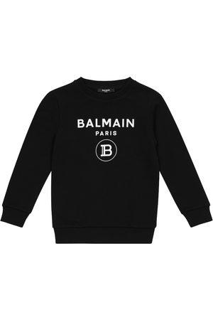 Balmain Girls Sweatshirts - Logo cotton sweatshirt