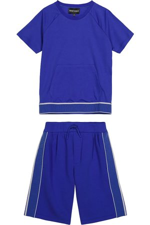 Emporio Armani Boys Sets - Stretch-cotton T-shirt and shorts set