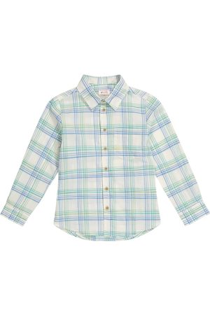 MORLEY Benjamin checked cotton poplin shirt