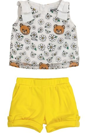 Moschino Baby tulle top and cotton shorts set