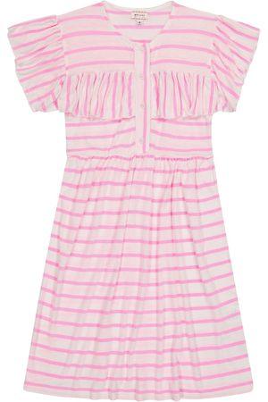 MORLEY Note striped linen-blend dress