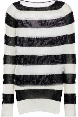 Marni Striped cotton longline sweater