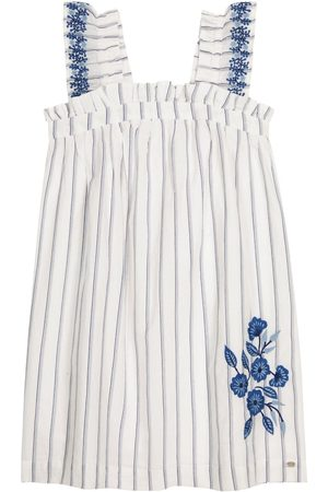Tartine Et Chocolat Striped cotton-blend dress