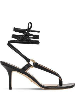 Stuart Weitzman 75mm Lalita Leather Thong Sandals