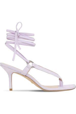 Stuart Weitzman 75mm Lalita Suede Thong Sandals