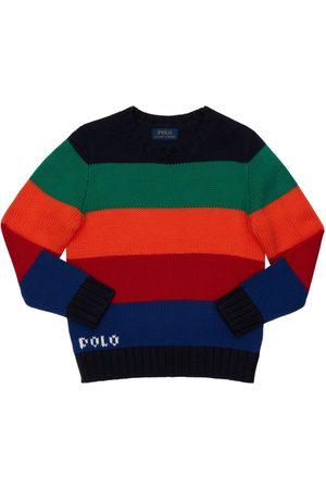 Ralph Lauren Boys Jumpers - Cotton Blend Knit Sweater