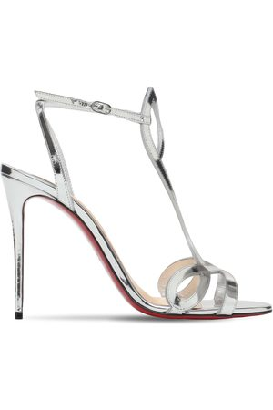 Christian Louboutin 100mm Double L Metallic Leather Sandals