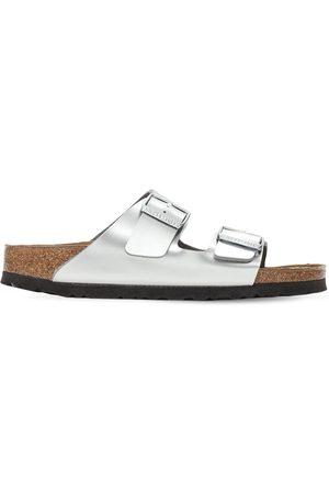 Birkenstock Girls Sandals - Laminated Metallic Leather Sandals