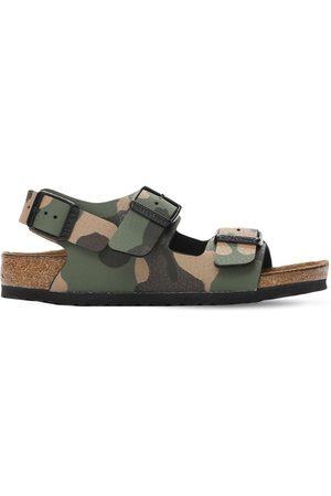 Birkenstock Camouflage Print Faux Leather Sandals