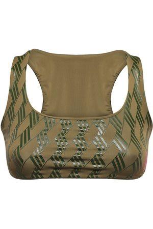 The Attico Women Crop Tops - Olga All Over Logo Lycra Crop Top