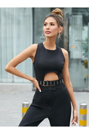 YOINS Crew neck Cut out Sleeveless Camis