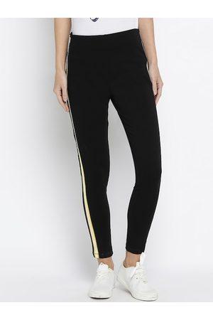 Pepe Jeans Women Black Solid Treggings