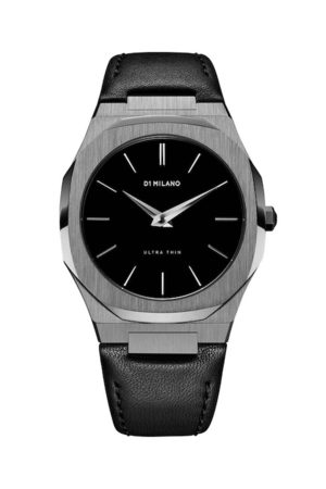 D1 MILANO Men Black Analogue Leather Watch UTLJ02