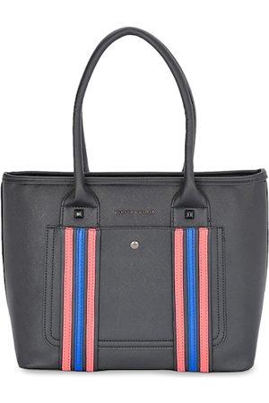 Pierre Cardin Black & Pink Striped Shoulder Bag
