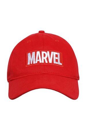 Kook N Keech Men Red Embroidered Marvel Baseball Cap