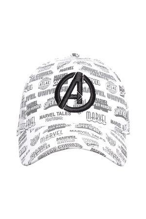 Kook N Keech Men White & Grey Printed Avengers Baseball Cap