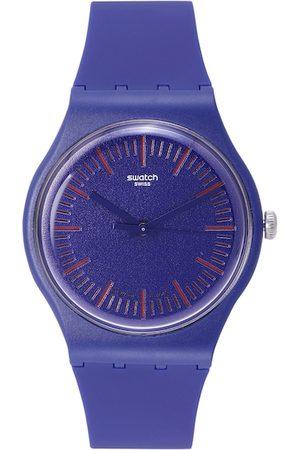 Swatch Unisex Blue Analogue Watch SUON146