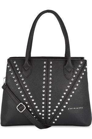 Pierre Cardin Black Embellished Handheld Bag