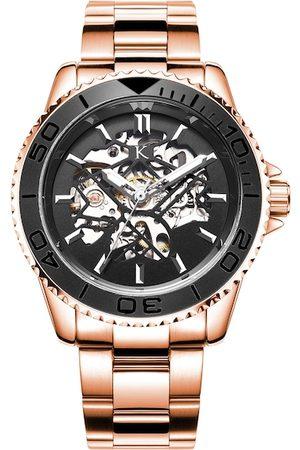 KREDO Men FORTE Rose Gold Automatic Skeleton Analogue Watch-KW036