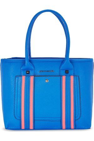 Pierre Cardin Blue Striped Handheld Bag