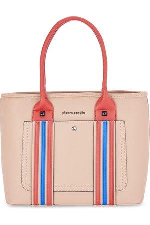 Pierre Cardin Beige Striped Handheld Bag