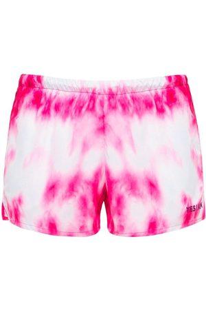 YES I AM Lvr Exclusive Print Tie-dye Swim Shorts