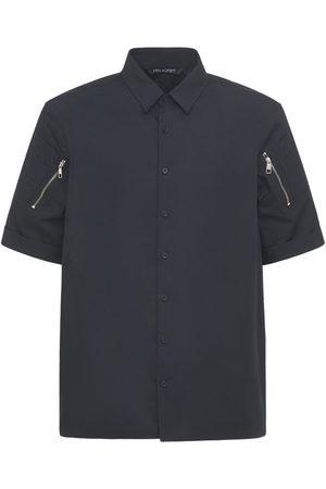 Neil Barrett Loose Cotton Shirt W/ Zip Pockets