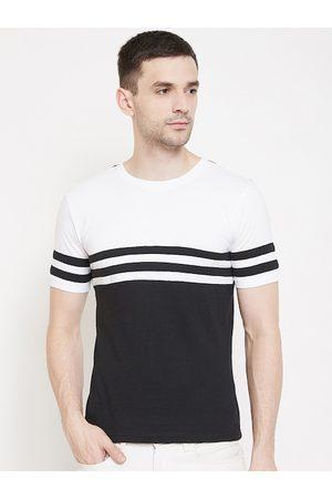 GRITSTONES Men Black Colourblocked Round Neck Anti Viral T-shirt