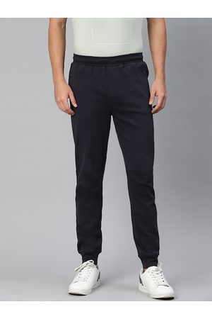 Indian Terrain Men Navy Blue Straight Fit Solid Joggers