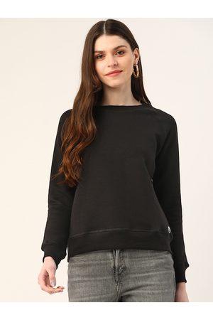 Trend Arrest Women Black Solid Sweatshirt