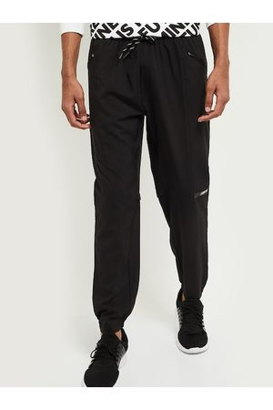 Max Collection Men Black Solid Joggers