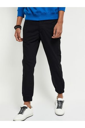 Max Collection Men Black Regular Fit Solid Joggers