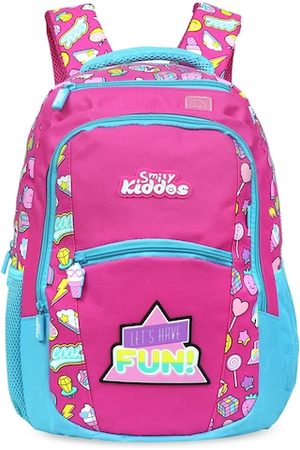 Smily Kiddos Unisex Kids Pink Graphic Contrast Detail Backpack